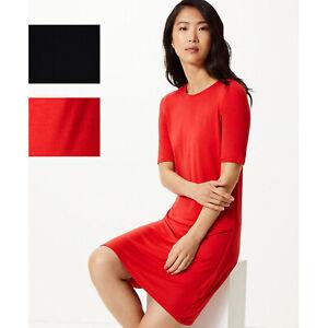 Ladies-Marks-amp-Spencer-15-Jersey-Swing-Dress-Sizes-6-24-M-amp-S-Red-Navy-T-Shirt