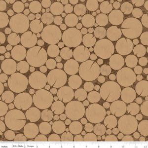 Timeless-Treasure-Log-Wood-Wood-Grain-Cross-Section-Brown-Cotton-Fabric