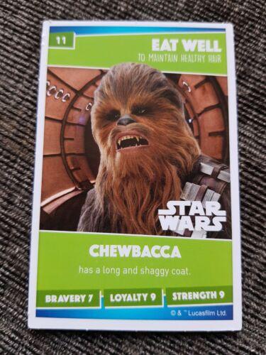 Sainsburys Card Number 11 ChewbaccaSainsbury/'s Disney Heroes 2019 Card