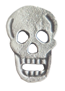 The Laughing Skull Pewter Pin Badge