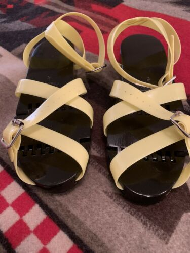 Black Flexiclogs Yellow Straps Size 6 Fits Up To 6