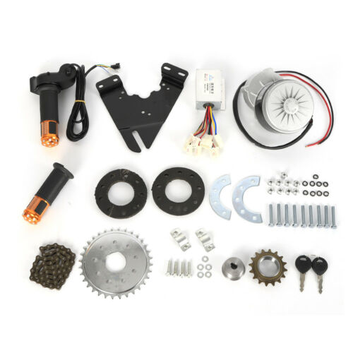 250W 24V Umrüstsatz Elektrofahrräder Bürstenmotor+Freilauf Kettenantrieb Anheben