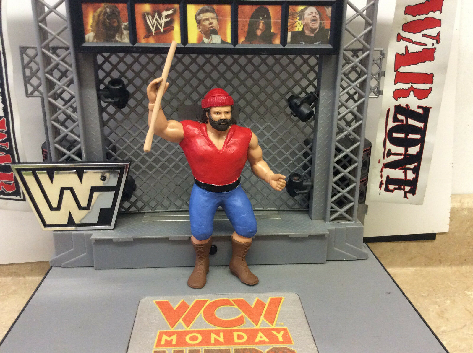 WWF LJN Custom Hand painted sculpted Big Josh WCW Figure