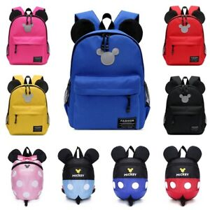 703325336ae Image is loading Kids-Girls-Boys-Canvas-Backpack-Mickey-Mouse-Primary-
