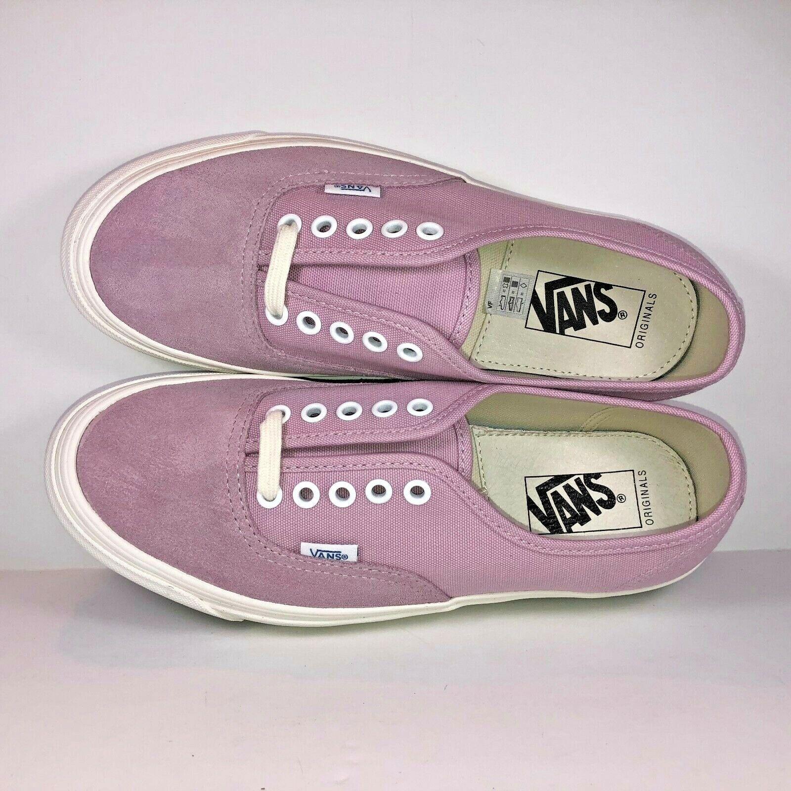 VANS OG Authentic LX Fragrant purplec Pink & White Sneakers VN000UDDN8N Size 7.5