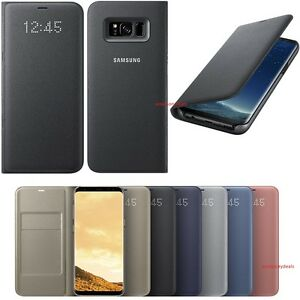 the latest 8e520 f33d0 Details about Genuine Samsung LED FLIP CASE Galaxy S8 mobile cell phone  cover sm g950f wallet