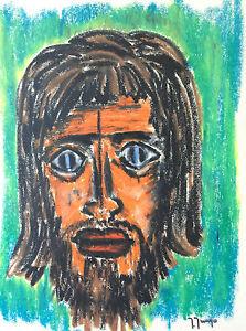 Expressionist-Portrait-Pastel-Jungo-2eme-half-20th