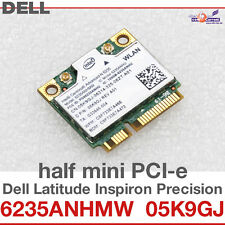 Wi-Fi WLAN WIRELESS CARD NETZWERKKARTE FÜR DELL MINI PCI-E 05K9GJ 6235ANHMW D03