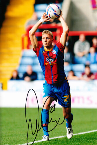 Crystal Palace F.C Dean Moxey Hand Signed 1213 Photo 12x8 1.