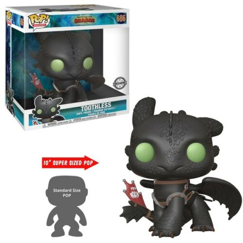 Funko Pop Toothless Ohnezahn Dragons 686 Super Size Vinylfigur Special Edition