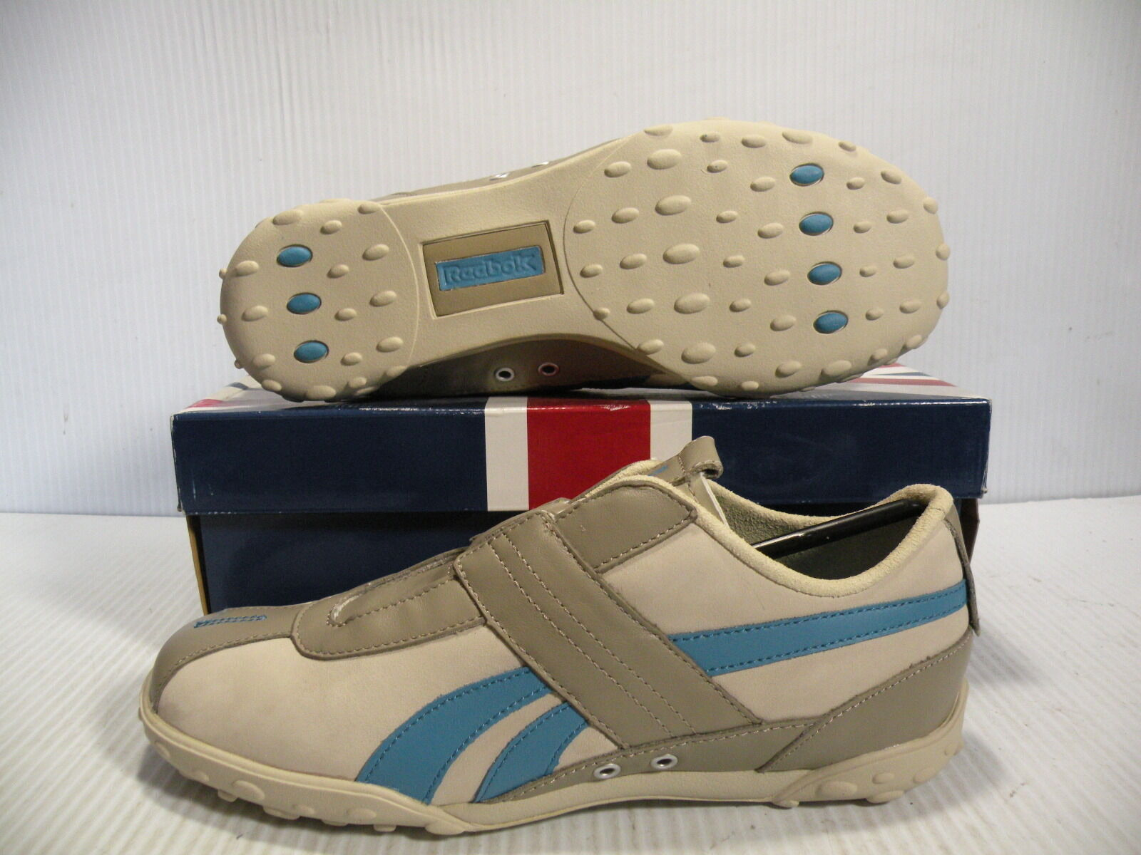 REEBOK CLASSIC MOTORING CLOSURE LO WOMEN WOMEN WOMEN SHOES KHAKI blueE 32-151174 SIZE 5.5 NEW 2b7b77