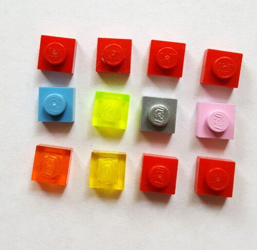 71 C Lego 3024 Platte Basis auch transparent 1x1 Farben sortiert 12 Stück