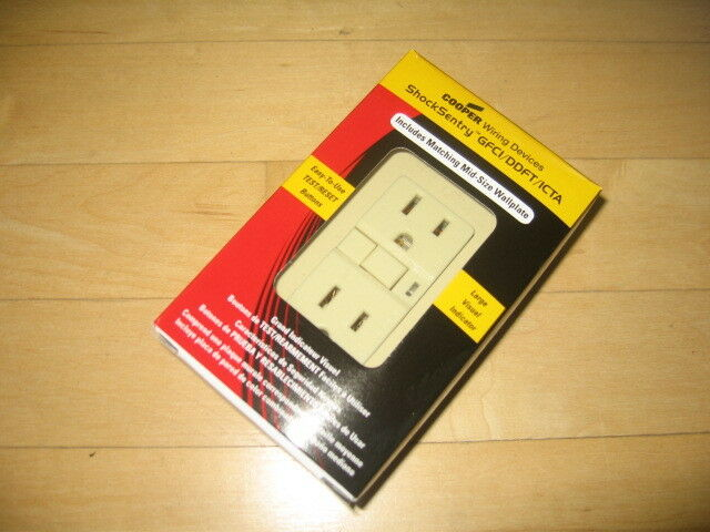 Cooper Wiring Devices 15A 125V Specfication Duplex GFCI Outlet IVORY on