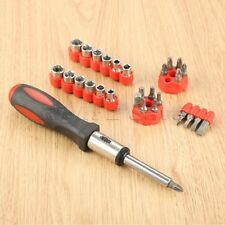 Facom ACL.1PG Bit-Holding Ratchet Screwdriver with 15 Screw Bits