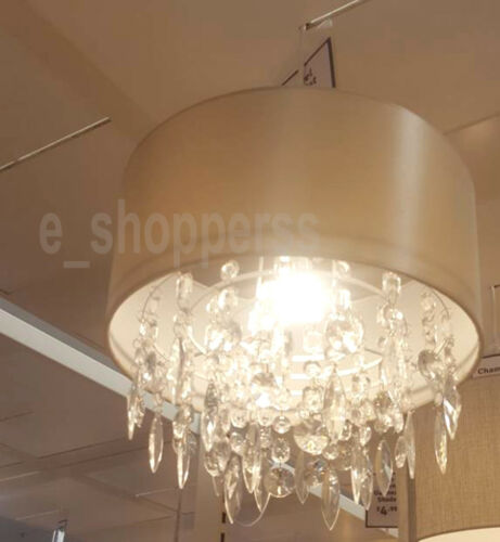 NEW LARGE CHAMPAGNE PALE GOLD LIGHT PENDANT JEWEL DROPLET SHADE CHANDELIER