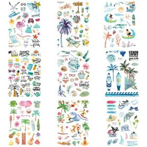 Hawaiian-Style-Body-Tattoo-Waterproof-Sticker-Cartoon-Party-Temporary-Children