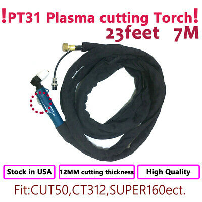 PT-31 High Frequency Plasma Cutter Cutting Machine Torch 10 Feet /& 3M Completed