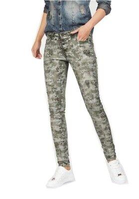 Jeans Alexis Skinny von Blue Monkey in Khaki Camouflage NEU | eBay