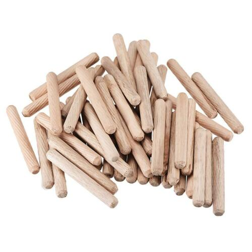 6mm 8mm 10mm 12mm Hardwood Wooden Dowels Chamfered Fluted Pin Wood Dowels