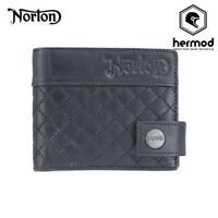 Norton Motorcycles Quilted Leather Wallet - Black
