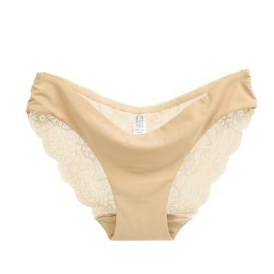 Women lace Panties Seamless Cotton Panty Hollow briefs Underwear Q1