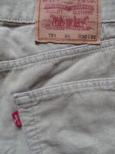 Levi's 751 Cord Jeans Hose, W 30 /L 32, beige, Vintage coloured Cordhose, KULT !
