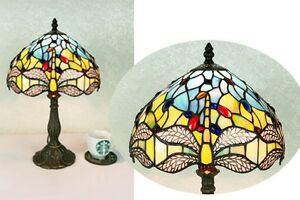 Beautiful-Dragonfly-Design-Clear-Jewels-effect-Glass-Tiffany-Style-Table-Lamp