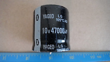 Yageo 47000uf 10v 105c Snap In Withscratches Capacitor New Lot Quantity 2