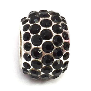 Authentic-Brighton-Ice-Diva-Black-Bead-J9240C-Silver-Finish-Crystals-New