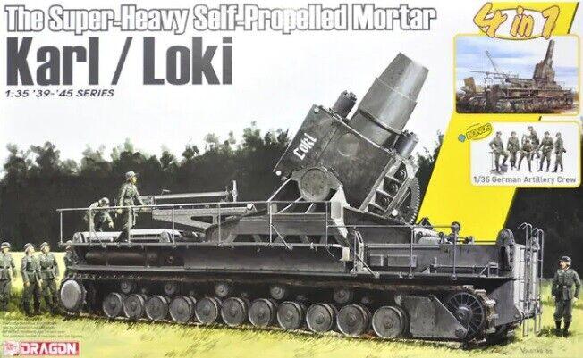 Dragon 6946 - 1 35 WWII The súper-Heavy Self-Propelled Mortero Karl   Loki W