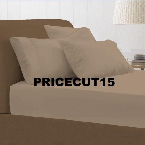 Plaine équipée draps teint 100/% en polycoton simple double king bed sheet soft