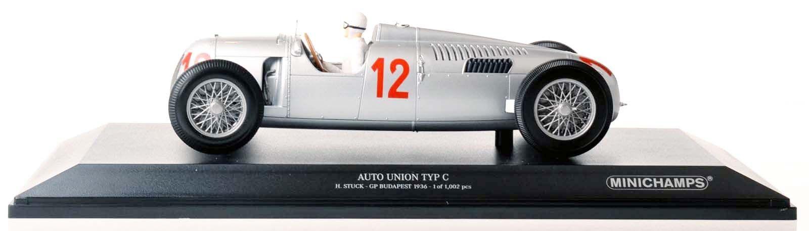 MINICHAMPS 155361012  Auto Union Type C H. stuc Budapest 1936 1 18 Nouveau Neuf dans sa boîte  avec 100% de qualité et 100% de service