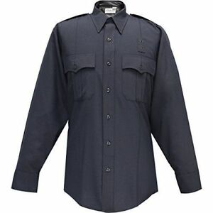 Flying-Cross-Mens-LAPD-Navy-Blue-Long-Sleeve-Shirt-07W8786Z-Concealed-Zipper