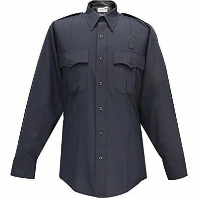 Flying Cross Mens LAPD Navy Blue Long Sleeve Shirt 07W8786Z Concealed Zipper