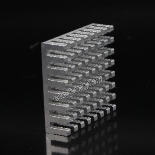 50pcs Lot Aluminum 28mm 28X28X 8mm IC LED Cooling Cooler Heatsink Heat Sink new