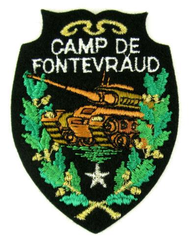 badge embroidered ♦ CHAR AMX 30 CAMP DE FONTEVRAUD Ecusson brodé militaire ♦