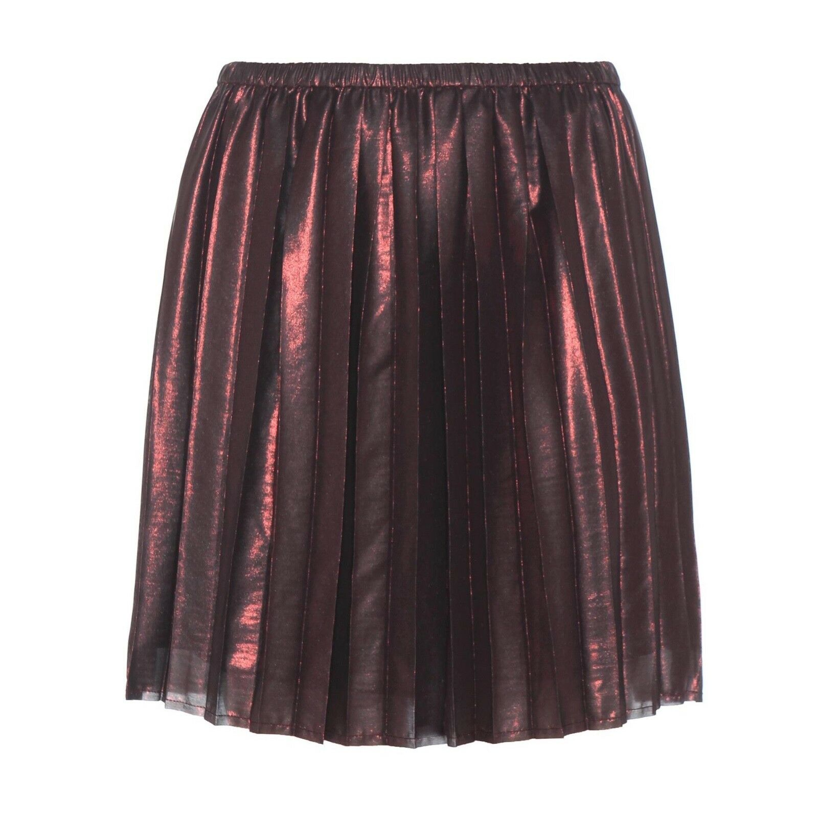 Isabel Marant Étoile Manda Pleated Metallic Skirt Size Small S