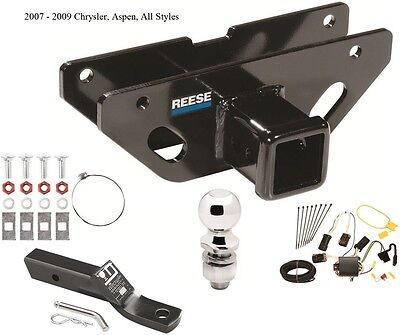 2007-2009 CHRYSLER ASPEN COMPLETE TRAILER HITCH PACKAGE W ...