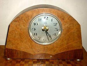 Ato Electrique Rare Pendule Art Deco Leon Hatot 1920 Bois De Rose Rosewood Nourrir Les Reins Soulager Le Rhumatisme
