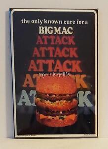 Mcdonald 39 s big mac attack 2 x 3 fridge magnet fast food - Fast good cuisine big mac ...