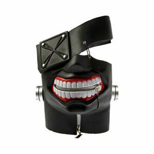 Anime-Tokyo-Ghoul-Kaneki-Ken-Adjustable-Cosplay-PU-Zipper-Mask-Halloween