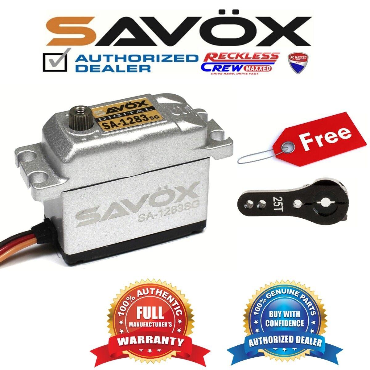Savox SA-1283SG metal caso Digital Servo Coreless + Gratis ALU Servo Cuerno Negro