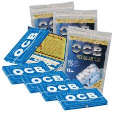 OCB ® Blau Zigarettenpapier 6x 50 Blättchen & 3x 100 OCB 7,5mm Slim Filter