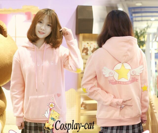 Card Captor Sakura Kinomoto Sakura Pink Sweater Casual Top