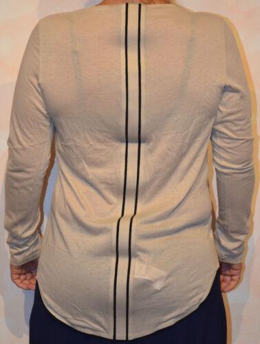 Girbaud 38 Marithé Longues Francois Manches Tee Taille shirt Beige wxZ067qX