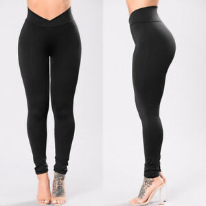 Womens-Yoga-Fitness-Leggings-Running-Athletic-Sports-Stretch-Long-Pants-Trousers