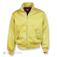 Harrington Jacket Bomber Classic Tartan Lined G9 Ska Punk Skinhead Lemon Yellow