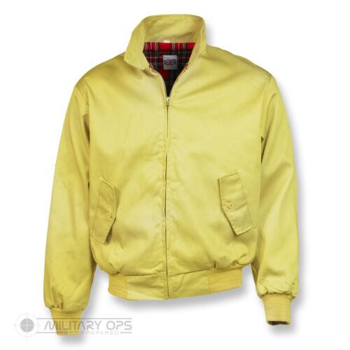 Harrington veste bomber classique tartan doublé G9 ska punk skinhead jaune citron
