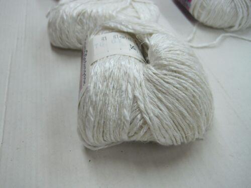 500gr de punto lana árbol//visc//sólo tejer Lana para tejer-häkelgarn Weiss