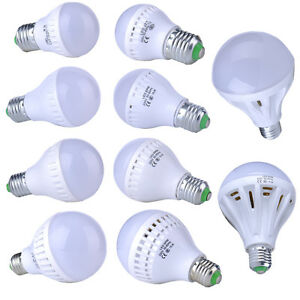 New Energy Saving Led E27 Warm White Light Bulb Lamp 9 12 12 15 20 25w 110v 240v